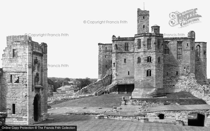 Photo of Warkworth, The Castle c.1955