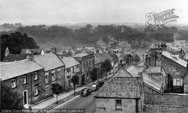 Photo of Warkworth, view from the Castle c1955, ref. W391004