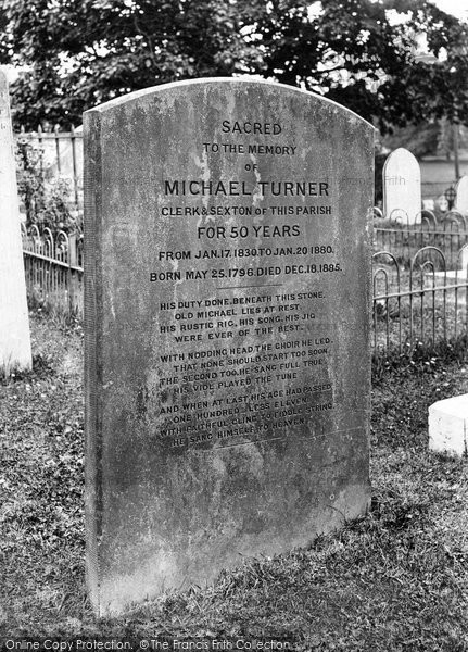 Photo of Warnham, St Margaret's Church, Michael Turner's Gravestone 1927