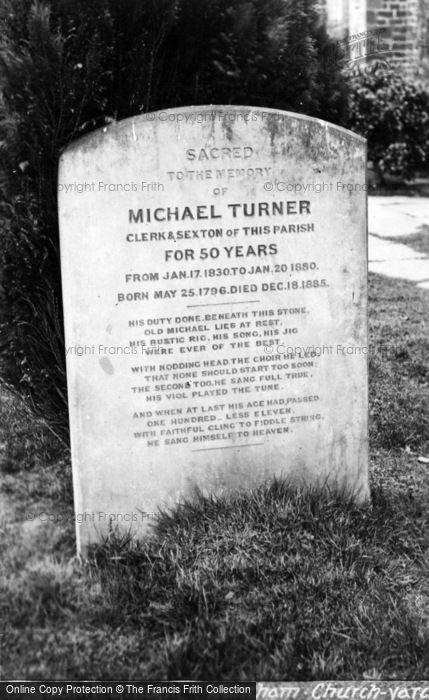 Photo of Warnham, St Margaret's Church, Michael Turner's Gravestone c.1920