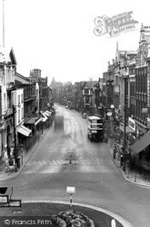 Warrington, Bridge Street From Town Centre c.1950