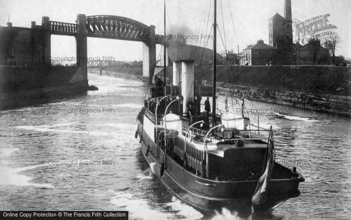 Manchester, Latchford Locks and Manchester Ship Canal 1894
