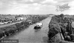 Manchester Ship Canal And Knutsford Road Bridge c.1965, Warrington
