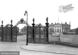 Warrington, Park Gates And Town Hall c.1955