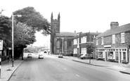 Warrington, St James' Church and Wilderspool c1965
