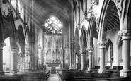 Warrington, St Mary's Catholic Church interior 1895