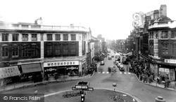 Warrington, The Circus And Bridge Street c.1955