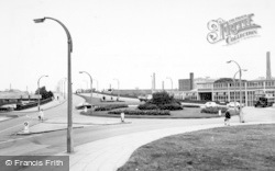 Warrington, The Roundabout c.1965