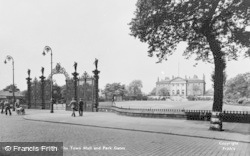 Warrington, The Town Hall And Park Gates c.1950