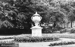 Warrington, The Urn In Queens Park c.1965