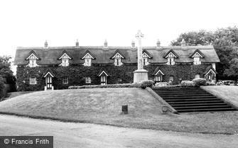 Warter, Cottages and War Memorial c1955