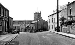 Main Street And Church c.1955, Warton