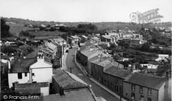 Main Street From Church Tower c.1955, Warton