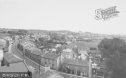 Main Street From The Church Tower c.1955, Warton