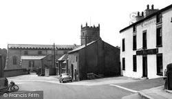 The Church And Black Bull Hotel c.1960, Warton