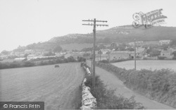 Warton, The Village And The Crag c.1955