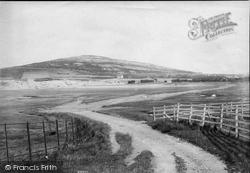 Warton Crag From Carnforth 1906, Warton