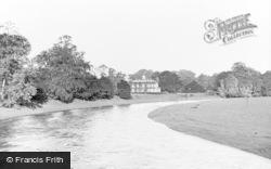 Warwick Hall And River Eden c.1955, Warwick Bridge