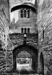 Warwick, Castle, The Portcullis c.1900