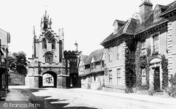 Warwick, East Gate And Landors House 1892