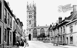 Warwick, St Mary's Church And Church Street 1892