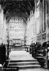 Warwick, St Mary's Church, Choir East 1892