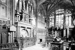 Warwick, St Mary's Church, The Beauchamp Chapel 1892