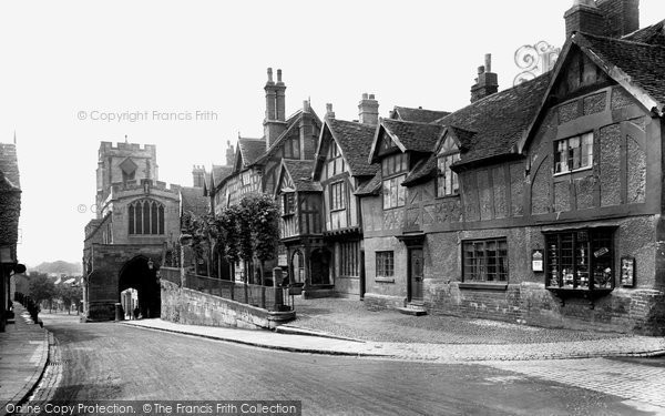 Warwick, Westgate and the Lord Leycester Hospital 1922