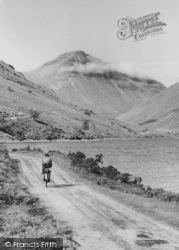 Wastwater, Cycling Along The Lake c.1960, Wast Water