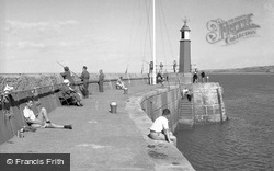 Fishing At The Harbour 1957, Watchet
