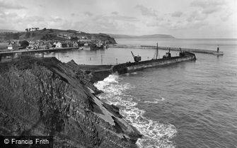 Watchet, the Harbour 1927