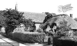 Watchfield, A Pretty Cottage And The Church c.1960