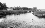 Waterbeach, The River Cam From The Weir c.1955