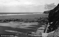 Watergate Bay, Beach c.1955