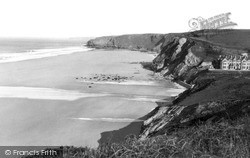 Beach c.1955, Watergate Bay