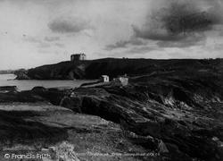 Watergate Bay, Beacon From Towan Head 1899