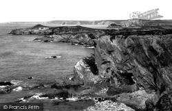 Watergate Bay, Trevelgue Head And Watergate Beach 1899