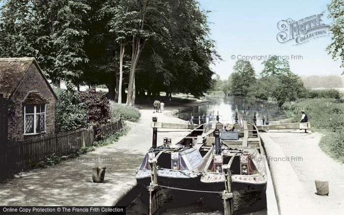 Photo of Watford, Cassiobury Park And Iron Bridge Lock 1921