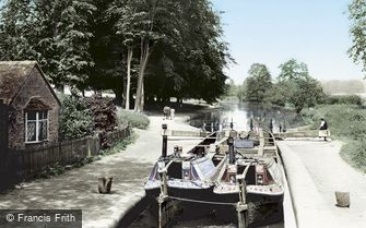 Watford, Cassiobury Park and Iron Bridge Lock 1921