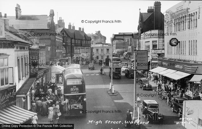 Photo of Watford, High Street c.1955