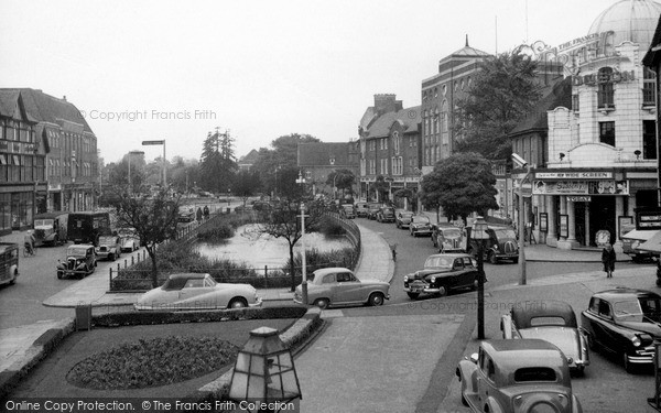Photo of Watford, the Pond on the High Street c1955