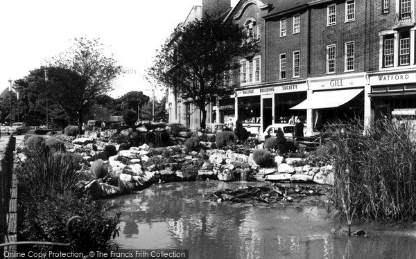 Photo of Watford, The Pond On The High Street c.1960