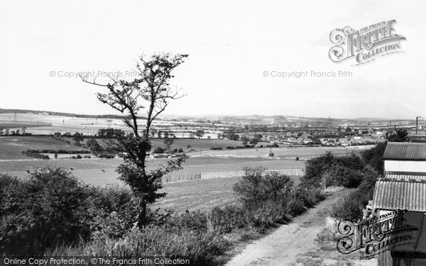 Photo of Wath-upon-Dearne, view from New Hill c1965