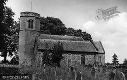 St Mary's Church c.1955, Watton