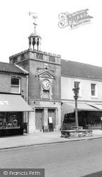 Town Sign And Clock Tower c.1955, Watton