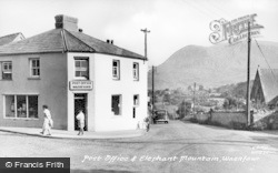 Waunfawr, The Post Office And Elephant Mountain c.1960