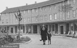 Weaverham, Mother And Son, Lime Avenue c.1955