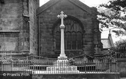 Weaverham, The War Memorial c.1955