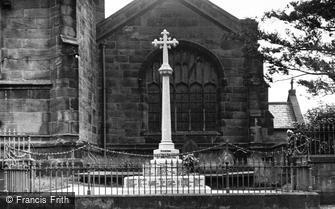 Weaverham, the War Memorial c1955