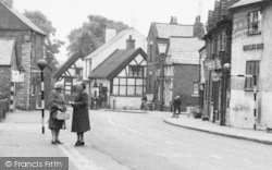 Weaverham, Women Chatting In The High Street c.1955